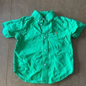 🏇🏼 2/$20 Green short sleeved Ralph Lauren Shirt